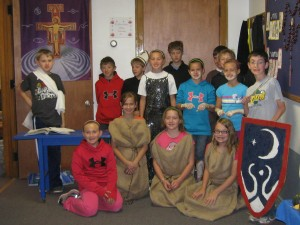 5th and 6th grade class presentation about the life of St. Francis of Assis