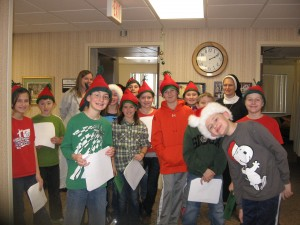 caroling for long term care residents & staff