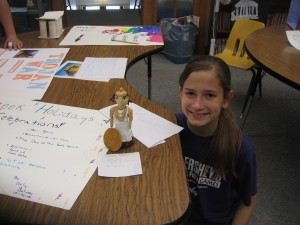 Ancient Greece projects on display
