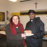 Mrs. Mosher shares a finished house with Fr. Thanaiah