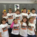 Kindergarteners on marathon day