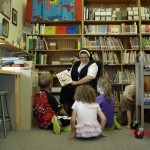 Kindergarten library time