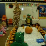 Mrs. Giraffe in Preschool